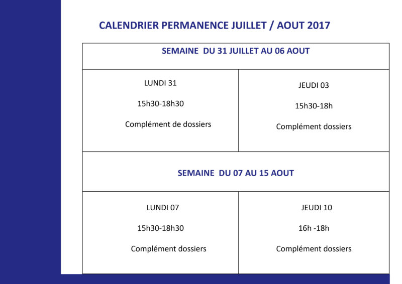 Calendrier Campus France